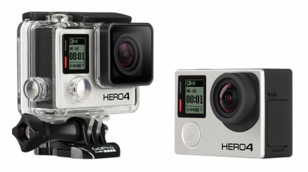 Picture of Go Pro Hero 4 action camera for bike touring, adventure cycling or bike packing