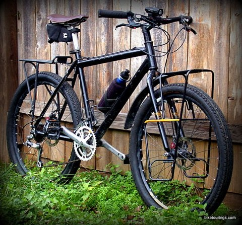 Picture of mountain bike for bicycle touring, commuting and bike packing