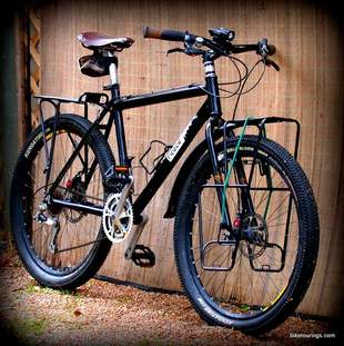 Picture of mountain bike for bike touring with pannier racks