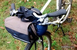 Picture of handlebar bag for bike packing with dry bag