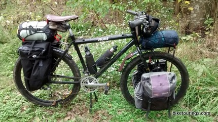 Picture of mountain bike for bike touring and bike packing