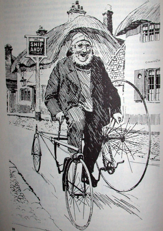 Picture of old antique bike sketch